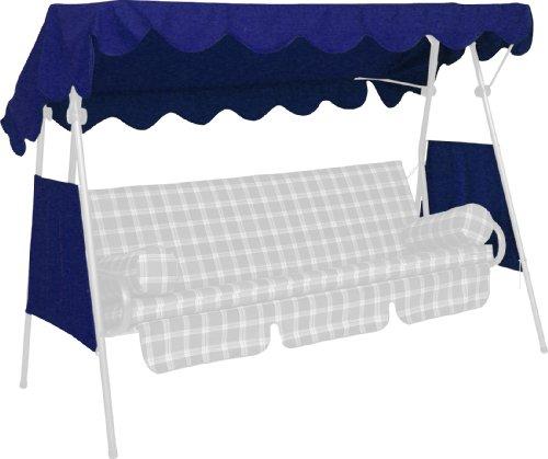 Angerer Toit balancelle 200 x 120 cm, qualité PE, Couleur Bleu