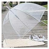 ZELWBANG Paraguas Moda Claro Transparente de la Burbuja Forma de cúpula Paraguas a Prueba de Viento al Aire Libre Paraguas Princesa deshierbe Decoración Paraguas