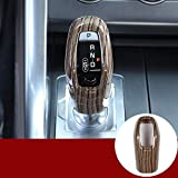 ABS Sands Wood Grain Car Gear Shift Knob Cover Trim for Land Rover Range Rover Sport 2014-2018 Accessories