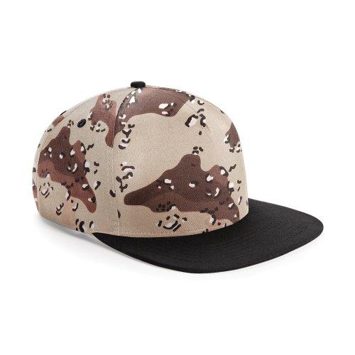 Beechfield - Casquette de baseball camouflage rétro - Homme (Taille unique) (Camouflage désert/Noir)