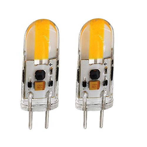 Lixada Dimmbare GY6.35 LED Lampe DC 12V Silikon LED COB Glühlampe 3W Ersetzen Halogenbeleuchtung (2 Pack)