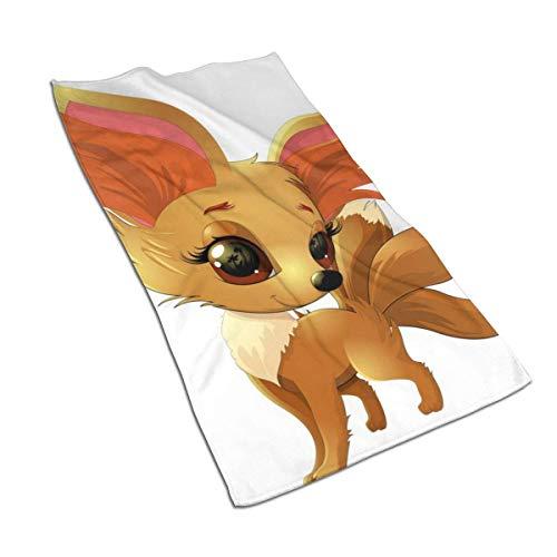 JULOE Cute Fox Pokemon Toalla de Mano Peso Ligero Fino Secado rápido Cabello para Manos Gimnasio Cara Baño Té Cocina Paño de Cocina Toalla de baño