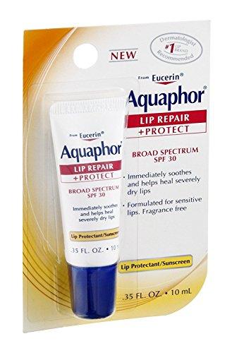 Aquaphor Lip Repair + Protect, Broad Spectrum SPF 30 0.35 oz (Pack of 9)