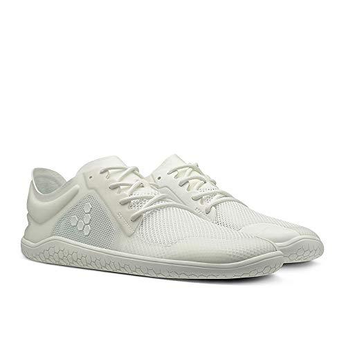 VIVOBAREFOOT Primus Lite II, zapato transpirable con movimiento ligero vegano con suela descalzo y construcción sin costuras, color Blanco, talla 46 EU