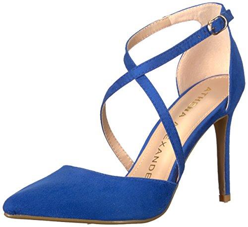 Athena Alexander Women's Monett Dress Sandal, Blue Suede, 6.5 M US