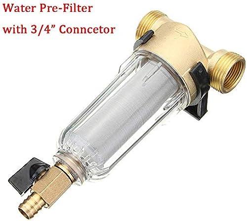 ChaRLes 1 Pouce Cuivre Port Eau Pré-Filter Cleanable Purifier Pressure Gauge With Compatible Connector -  2