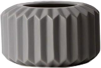 Ceramic Vase Origami Gray Modern Art Porcelain Vase Decorative Home Furnishings Flower Pot|Container Flower Bottle (Color ...