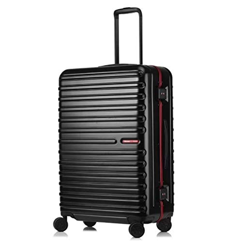 Grote Super Lichtgewicht koffer, Check-in bagage, Polycarbonaat Duurzame Hard Shell Travel Trolley Cases 4 Wielen, met TSA Lock (28