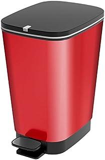 con secchio interno chiusura silenziosa Pattumiera a pedale coperchio a ribalta Stardis con chiusura automatica in acciaio INOX 3 litri colore: nero opaco