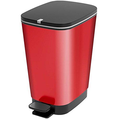 Kiss Kis Abfallbehälter Chic 25 Liter in rot, Plastik, 26.5x40.5x45 cm