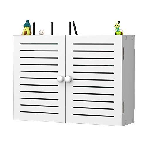 YTREDF WiFi Router Soporte Shelf Set-Top Box Montado En La Pared De Almacenamiento, Router WiFi Inalámbrico Estanteria Flotante Pared, para El Hogar Y La Oficina Louver Paragraph-(42 * 11 * 30cm)