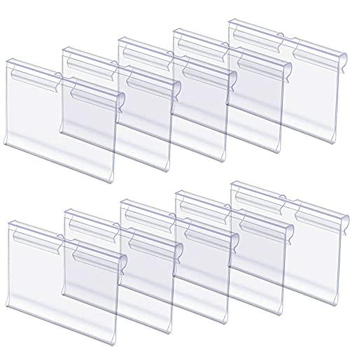 Zasvec Portaprecios 50 piezas Etiquetas de Plástico 6 x 4.2 cmTransparente Porta Precios Etiquetas de Precio Carteles para Precios Etiquetas de Mercancía para Mercería Oficina Supermercado Estantes