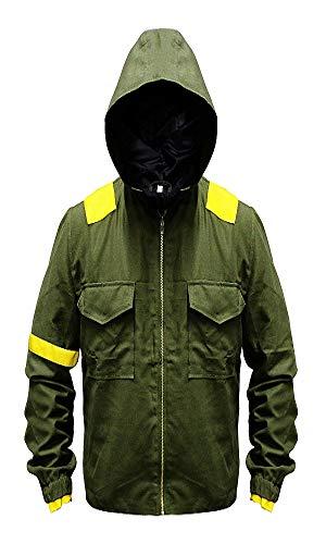 Twenty One Mens 21 Green Pilots Cotton Trench Jumpsuit Hoodie Camouflage Jacket