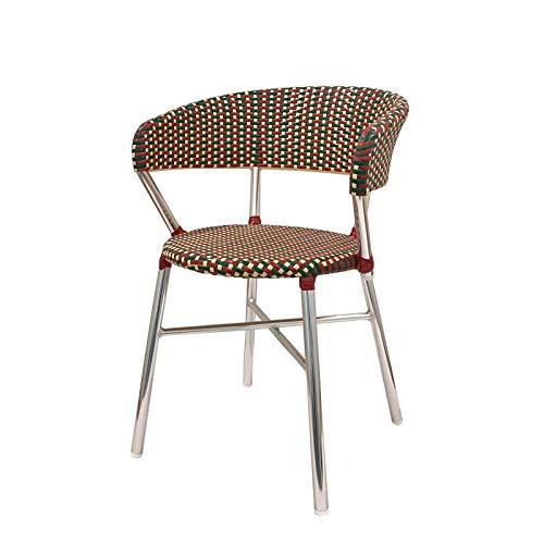 ダルトン Aluminum roundish chair F19-0001 Red/Green ガーデンチェア