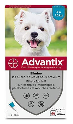 ADVANTIX Petit Chien – Anti-Puces et Anti-Tiques –...