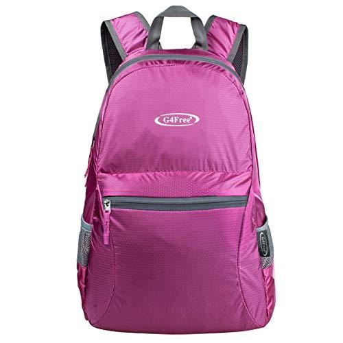 G4Free 20L Faltbarer Rucksack Ultraleicht Rucksack Daypack für Männer Frauen und Kinder...