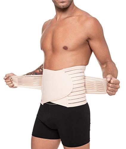Channo Faja Lumbar Cinturón Lumbar para Espalda Hombre y Mujer Doble Ajuste Fuerte (Visón, XXL/XXXL)