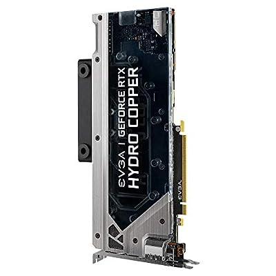 EVGA GeForce RTX 2080 Ti XC Hydro Copper Gaming Graphics Card Liquid Cooled 11GB GDDR6 PCIe 3.0 GPU RGB LED Video Card w/ Metal Backplate in Bulk Package Plain Box (11G-P4-2389-BR)