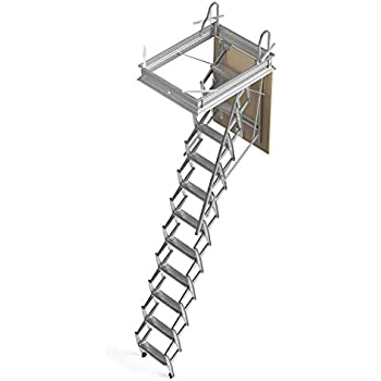 Mister Step Escalera escamoteable para buhardillas ADJ H=276÷300 cm. (90 x 60 cm.): Amazon.es: Bricolaje y herramientas