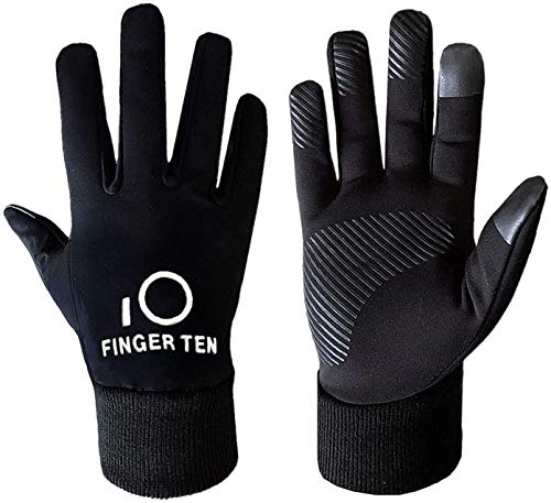 FINGER TEN Jungen Kinder Sport Laufen Warm Jugendliche Kinder Mädchen Schule Leicht Outdoor Touchscreen Winter Handschuhe Paar (M-(Age7-9)-Hand Length(15.5-16.5CM))