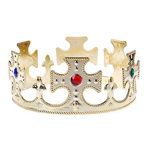 LUOEM Kings Crown Royal Jeweled King Couronne d/éguisement accessoire chapeau carnaval Service de f/ête