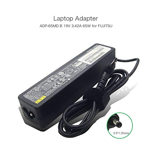 szhyon 19V 3.42A 65W 3.5 * 1.35mm Laptop Charger compatible with FUJITSU U772 UH572 ADP-65MD B LIFEBOOK SH771 Slim AC Adapter
