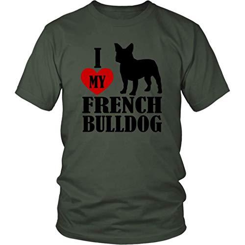 I Love My French Bulldog - District Unisex Shirt/Olive / 4XL