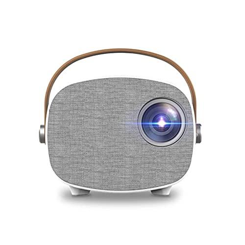BBZ Proyector LED HD para el hogar, Mini HD 1080p, Pantalla Conjunta inalámbrica y Pantalla Adicional, Conecta Varios Dispositivos, Rueda de Enfoque incorporada, para Exteriores, hogar