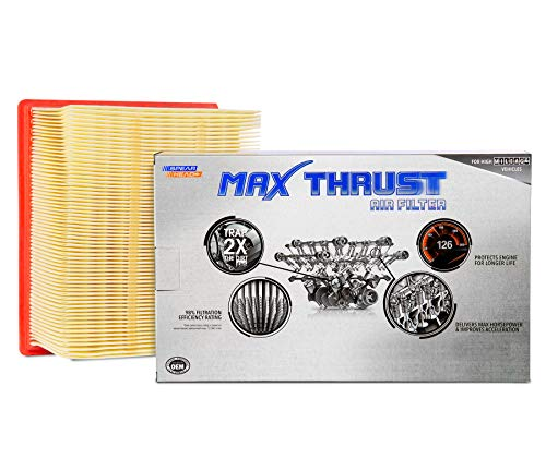 Spearhead MAX THRUST Performance Engine Air Filter For Low & High Mileage Vehicles - Increases Power & Improves Acceleration (MT-261)