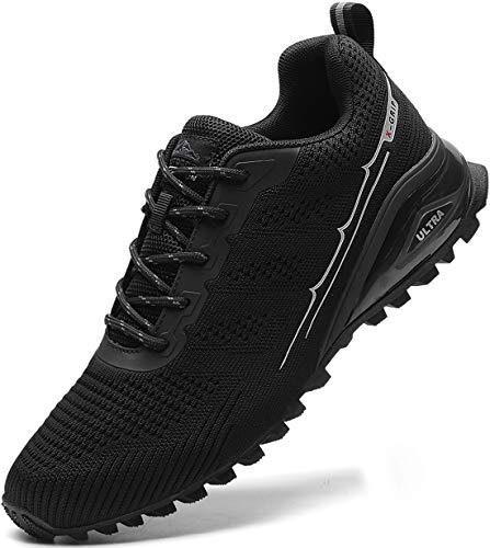 MARDICATO Herren Sportschuhe Cushion Schuhe Laufschuhe Straßenlaufschuhe Atmungsaktiv Walkingschuhe Outdoor Fitness Jogging Schuhe EU41-50 (50,Schwarz)