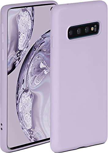ONEFLOW Soft Hülle kompatibel mit Samsung Galaxy S10 Hülle aus Silikon, erhöhte Kante für Displayschutz, zweilagig, weiche Handyhülle - matt Flieder