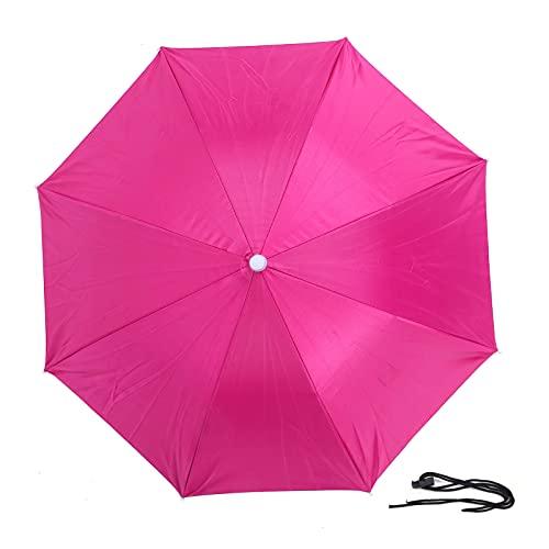 ROMACK Sombrero de Paraguas, Paraguas de Barco fácil de Usar para días lluviosos(Pink)