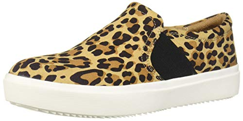 Dr. Scholls Shoes womens Wander Up Sneaker, Tan/Black Leopard Microfiber, 7.5 US