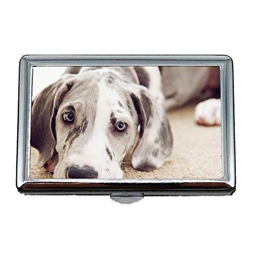 Cigarette Box Case Geschenke für Papa, Dog Lovers Dogge Hund, Kreditkarte Protector