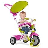smarTrike 618-0200 Zip-Stabiles 3 in 1 Touch Steering Dreirad als Vollmetallkonstruktion, Pink Green