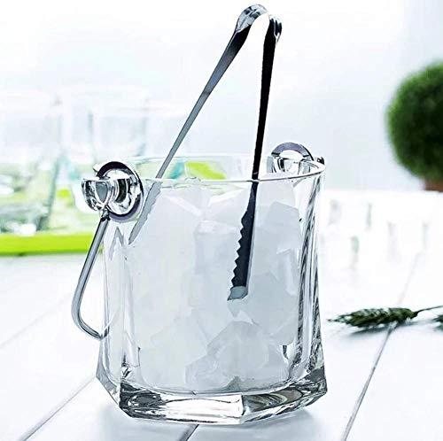 ZXL Portaghiaccio,Secchiello per Il Ghiaccio di Cristallo, Dispositivo di Raffreddamento del Secchiello del Vino Isolato per Birra di Champagne, Elegante refrigeratore di Vino del Secchiello del