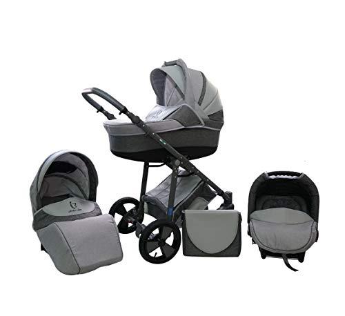 Cochecito Lux4Kids con neumáticos antipinchazos 8 colores Sombrilla para silla de paseo Perlux Flex 01 3en1 con asiento