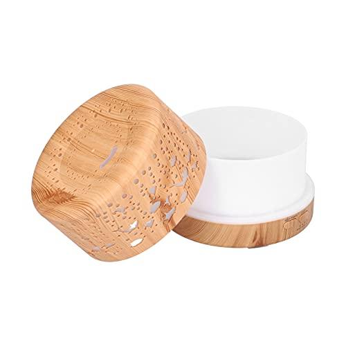 Humidificador de grano de madera, difusor de aroma de luz nocturna con control remoto inteligente, hermoso y elegante para dormitorio para sala de yoga, sala de estudio(Transl)