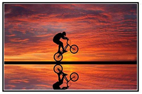 ZYHSB BMX Freestyle Bike Racing Cartel E Impresión Arte Pintura Decoración del Hogar Ation Cj231Za 40X60Cm Sin Marco