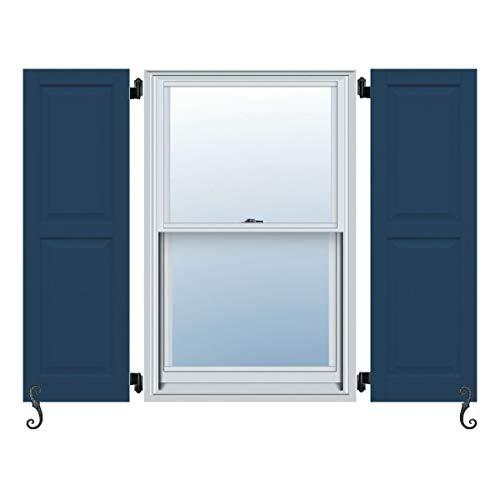 Atlantic Premium Shutters ACB213X41TB Classic Two Equal, Raised Panel Shutters (Per Pair), 20
