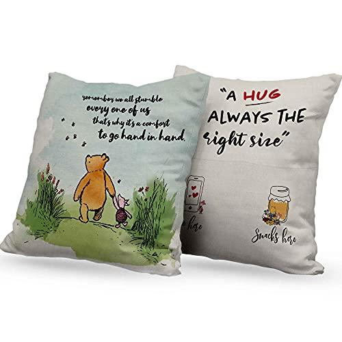 Winnie The Pooh Pillow Covers Gifts, Friend Friendship Gifts, Pooh Inspirational Quotes Gifts for Best Friend, Bestie,Sisters,Roommates by Cosmframe -Remember We Stumble PW003