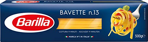 Barilla Hartweizen Pasta Bavette N. 13, 8er Pack (8x500g)