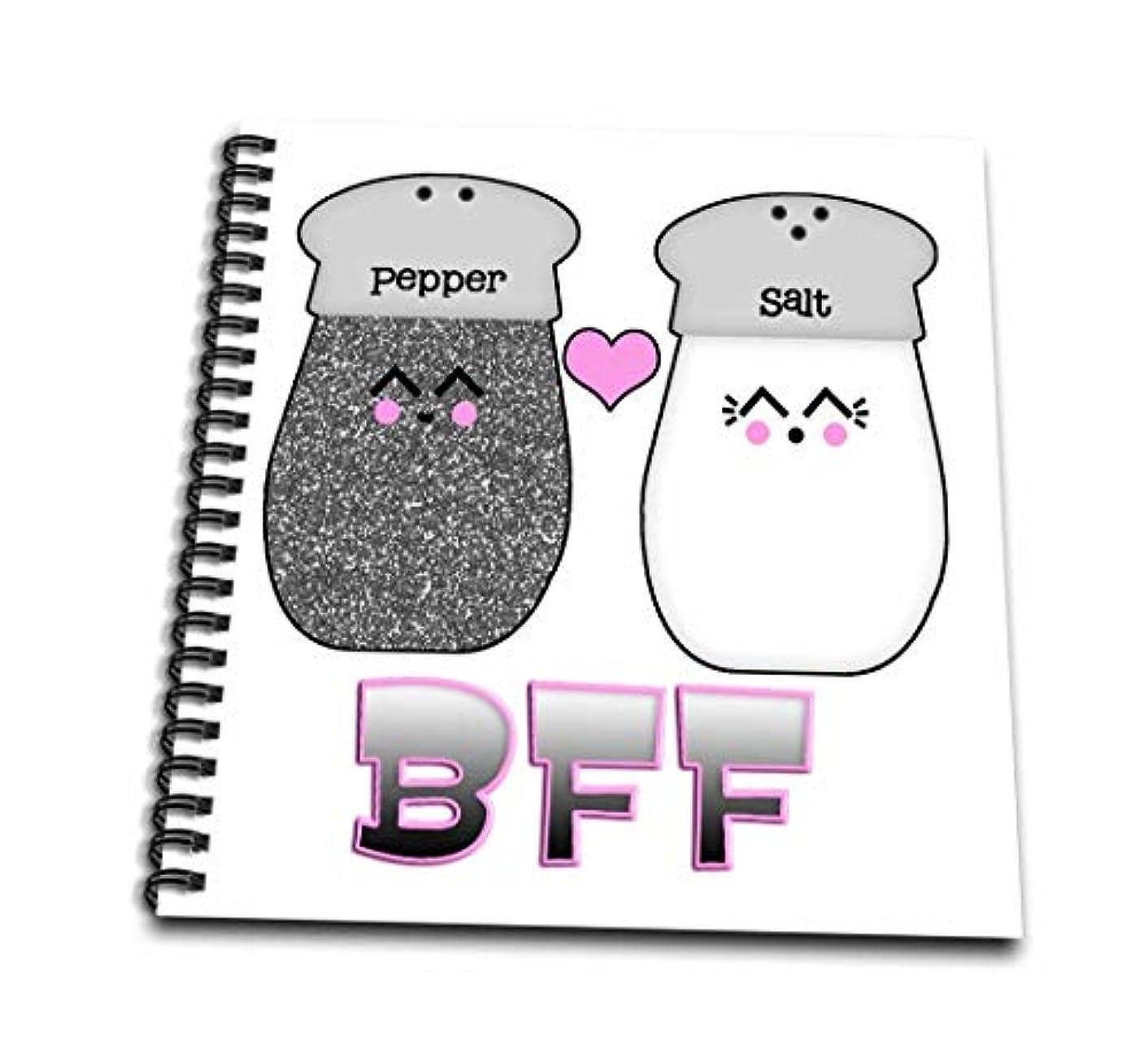 3dRose db_102726_2 Cute Kawaii Salt and Pepper BFF Memory Book, 12 by 12