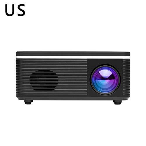BAOLIANG S361 Mini proyector Proyector de sobremesa de bajo Ruido Soporte de Enfoque eléctrico de Cine en casa multilingüe