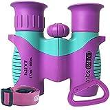 Kids Binoculars 8x21 Purple, Girls Toy Age 3 to 12, Shockproof Compact Binoculars for Kids with High...