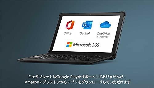 【NEW】Fire HD 10 エッセンシャルセット (キーボード付きカバー + Microsoft 365 Personal 1年版) オリーブ 32GB