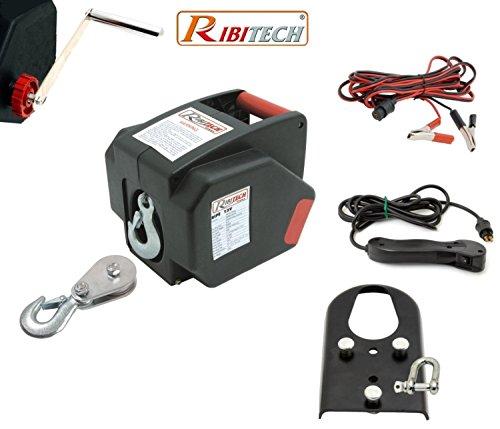 Verricello/Argano/Paranco Elettrico 12V 2000 Lbs Con Telecomando Ribitech - PE12V