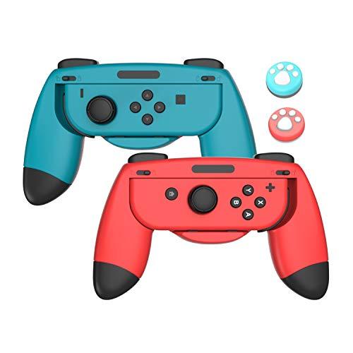 Lammcou Joycon Griff Halterung Kompatibel mit Nintendo Switch Joy Con Hand Grip Holder Accessories, Blau-Rot