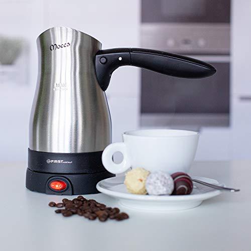 TZS First Austria - 0,35 Liter elektrischer Türkischer Kaffeekocher 800W Mokkakocher Espressokocher Wasserkocher
