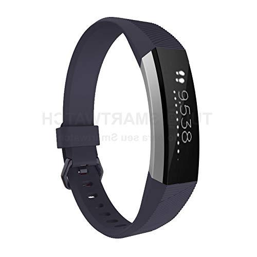 Pulseira de Silicone Cinza Slate para Relógio Fitbit Alta/Alta HR